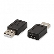 Переходник USB 2.0 A Male to USB B Mini 5 Pin Female